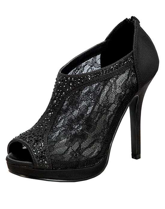 De Blossom Collection Yael-9 Black Shoe