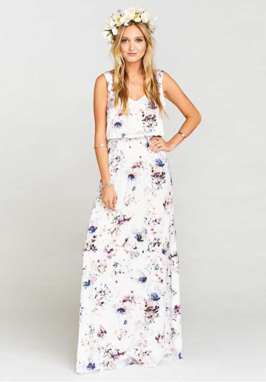 Show Me Your Mumu Kendall Maxi Dress - Bouquet Beauty V-Neck Bridesmaid Dress