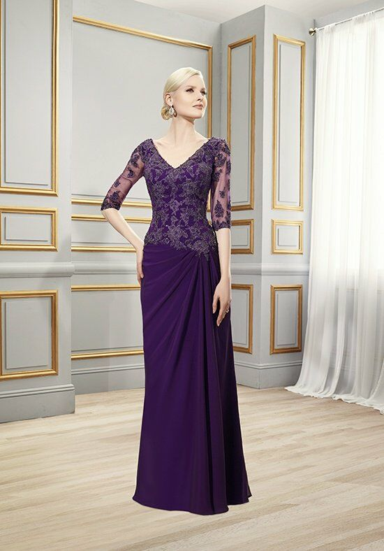 Val Stefani Celebrations MB7509 Purple Mother Of The Bride Dress