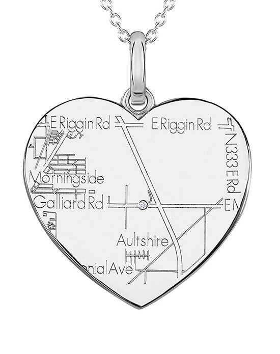 A.JAFFE Maps MAPP013 Wedding Necklace photo