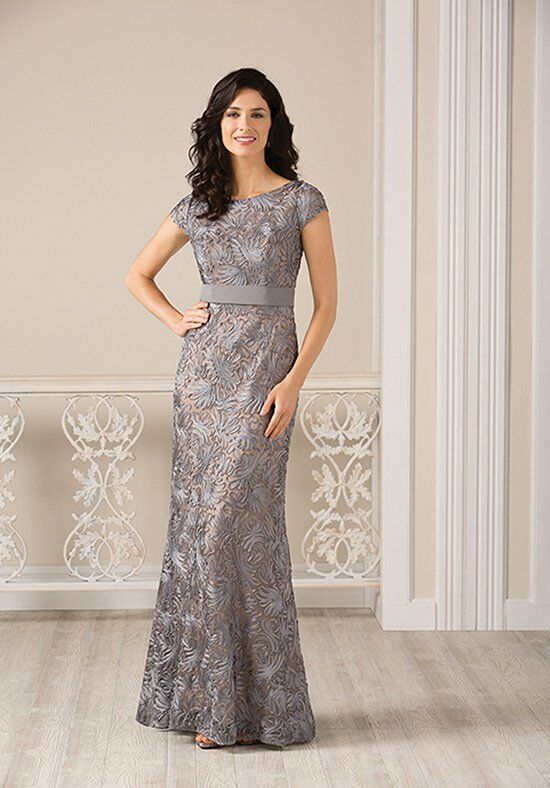Jade J185002 Silver Mother Of The Bride Dress