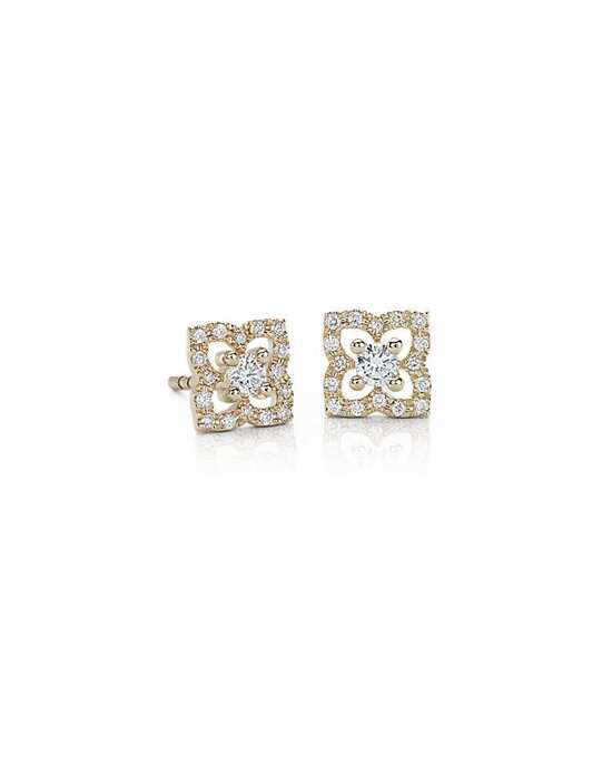Blue Nile Flower Diamond Earrings Wedding Earring photo