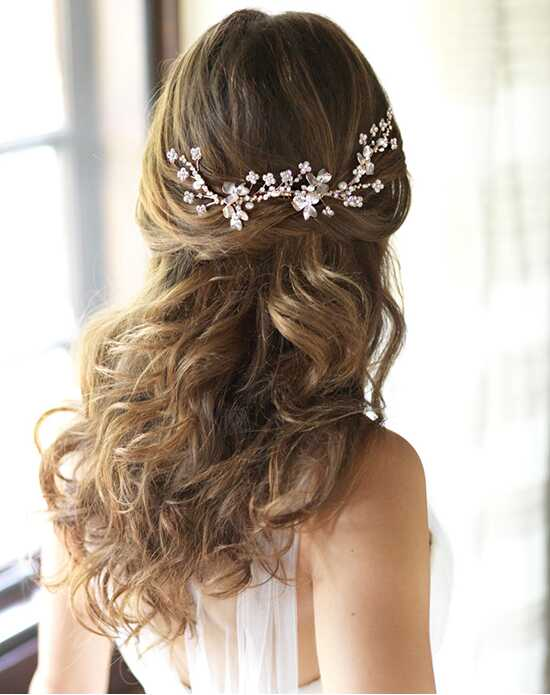Dareth Colburn Charlotte Bridal Headpiece Gold Pins, Combs + Clip