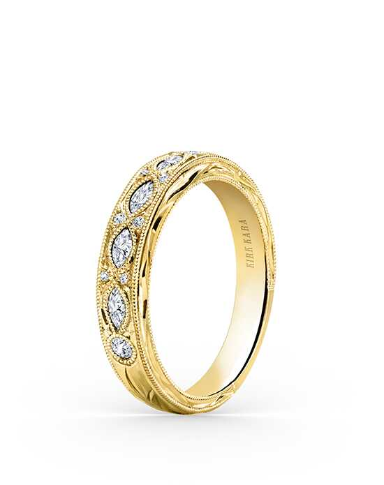 Kirk Kara Dahlia Collection K1120DY-B Gold Wedding Ring