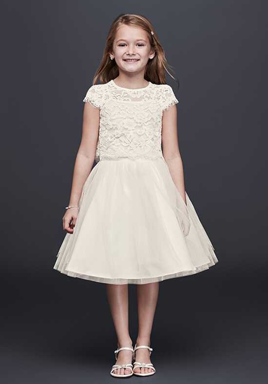 David's Bridal Flower Girl David's Bridal Style LF0693DB Ivory Flower Girl Dress