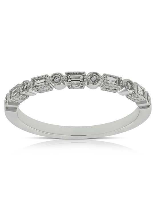 Ben Bridge Jeweler Round & Baguette Diamond Band 14K - 11527017 White Gold Wedding Ring