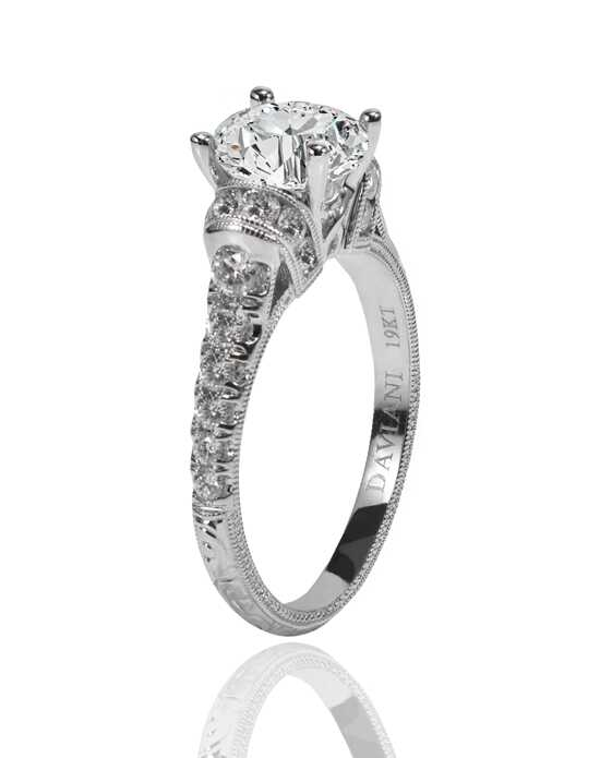 Daviani Love Links Collection Vintage Round Cut Engagement Ring