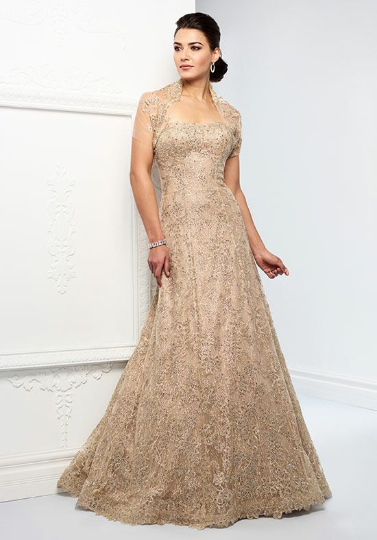 Ivonne D. 218D24 Gold Mother Of The Bride Dress