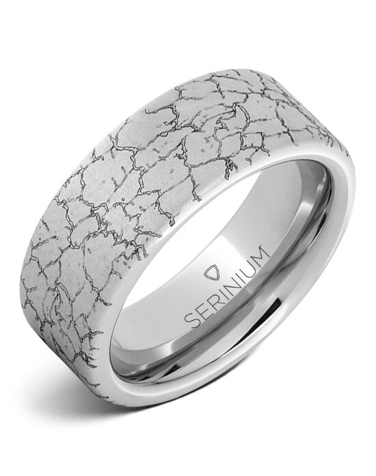Serinium® Collection Tectonic Engraved Serinium® Ring Serinium® Wedding Ring