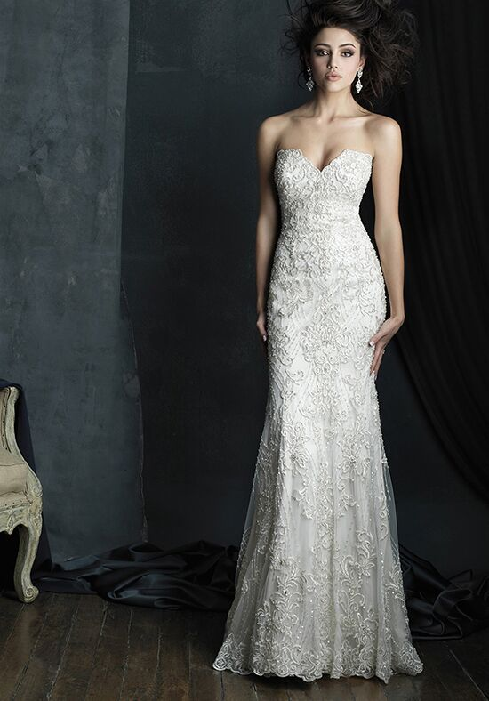 Allure Couture C383 Sheath Wedding Dress