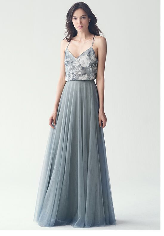 Jenny Yoo Collection (Maids) Winslow Skirt Print #S2650P V-Neck Bridesmaid Dress