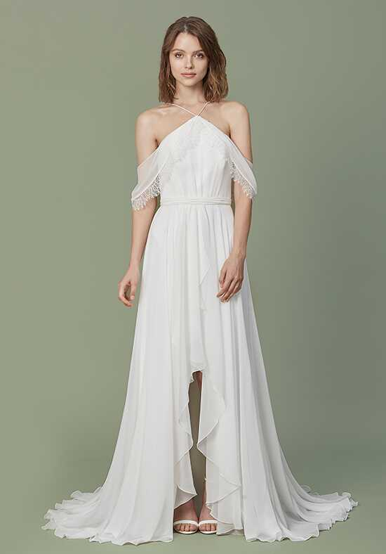 Christos Mara Sheath Wedding Dress