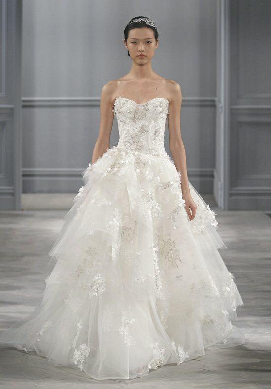 Monique Lhuillier Bijou Ball Gown Wedding Dress