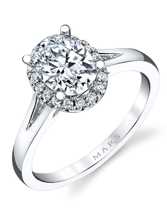 MARS Fine Jewelry Elegant Oval Cut Engagement Ring