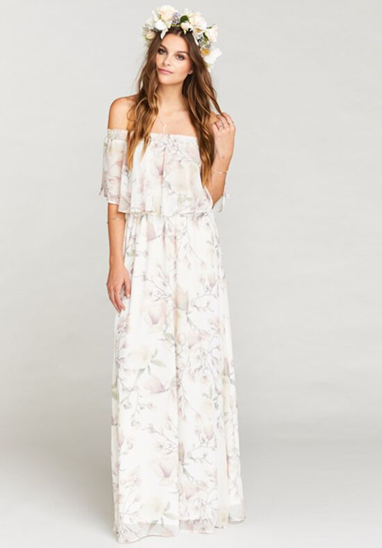 Show Me Your Mumu Hacienda Maxi Dress - Forever Vine Off the Shoulder Bridesmaid Dress