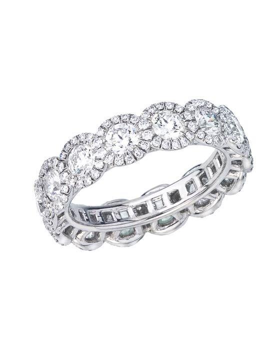 Forevermark Diamond Wedding Rings Jade Trau Halo Eternity Band