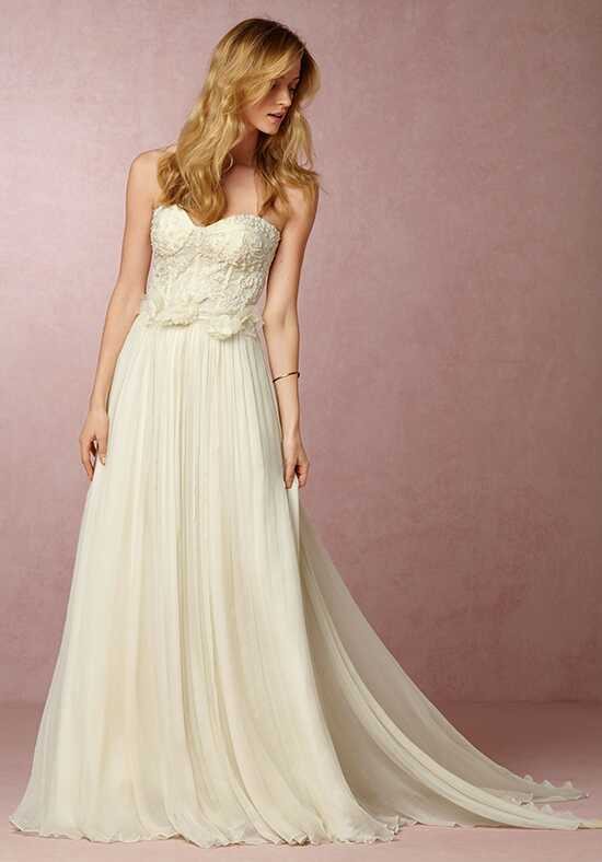 BHLDN Faymi Corset and Grace Skirt Wedding Dress photo