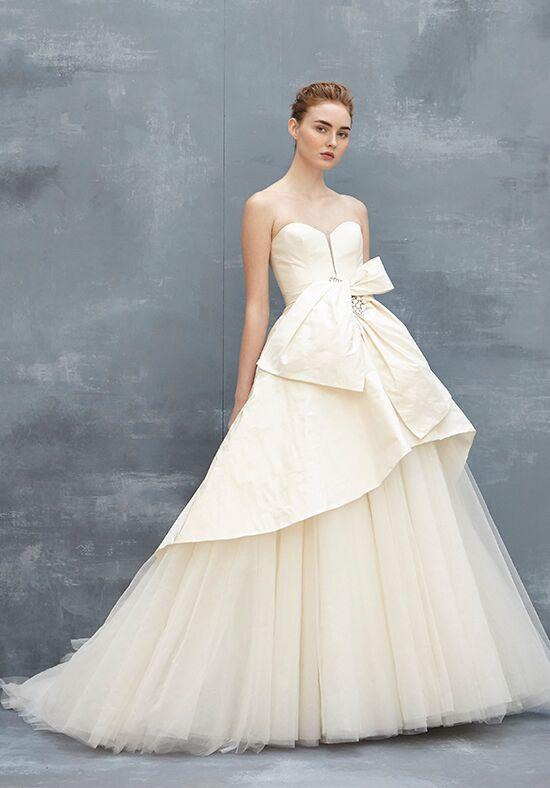 Amsale selena wedding dress the knot for Amsale wedding dress price