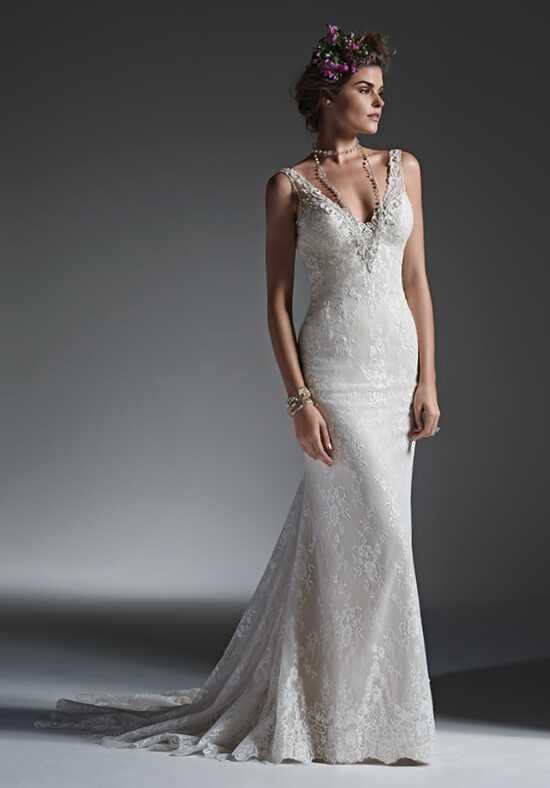 vneck wedding dresses