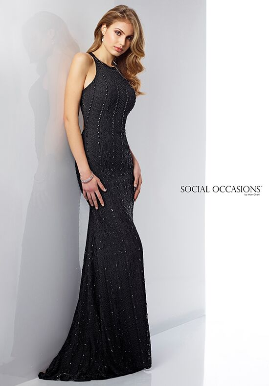 Social Occasions by Mon Cheri 217832 Black Mother Of The Bride Dress