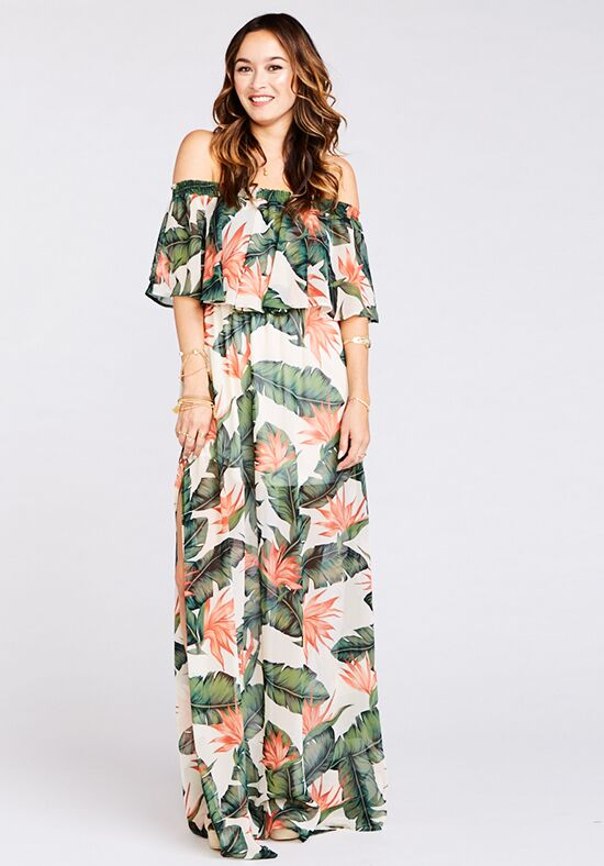 Show Me Your Mumu Hacienda Maxi Dress - Paradise Found Off the Shoulder Bridesmaid Dress