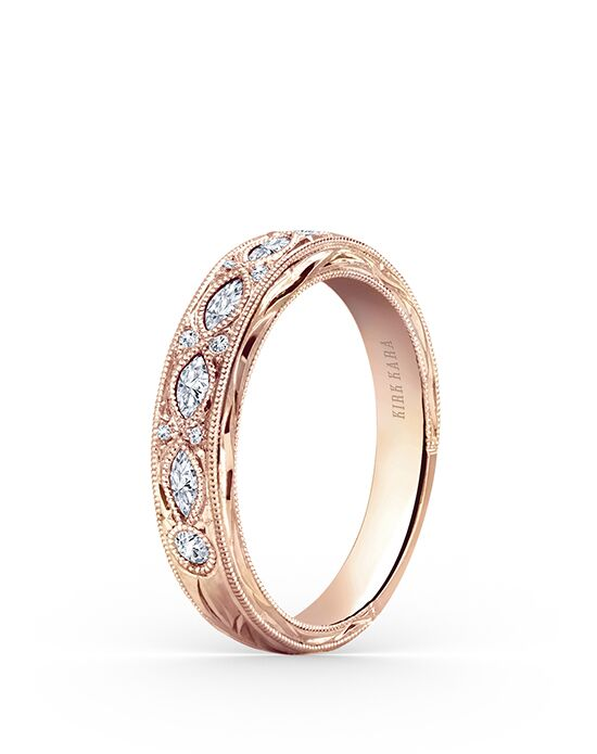Kirk Kara Dahlia Collection K1120DP-B Rose Gold Wedding Ring