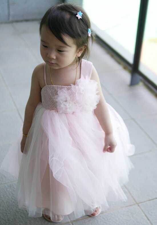 Eden Princess 12380 Pink Flower Girl Dress