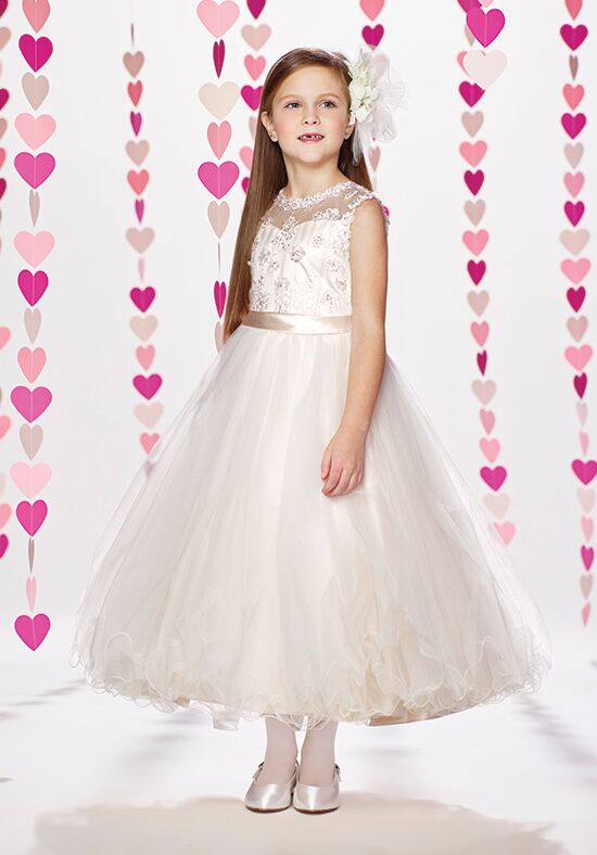 Joan Calabrese by Mon Cheri 217372 Pink Flower Girl Dress