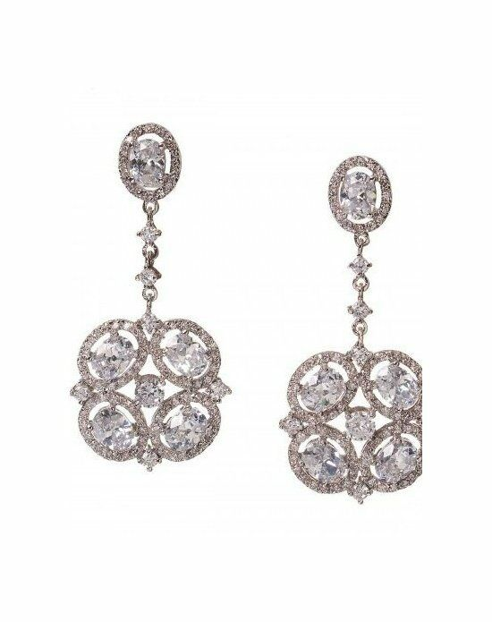 Anna Bellagio RAVINIA ART-DECO DRAMATIC STATEMENT EARRING Wedding Earring photo