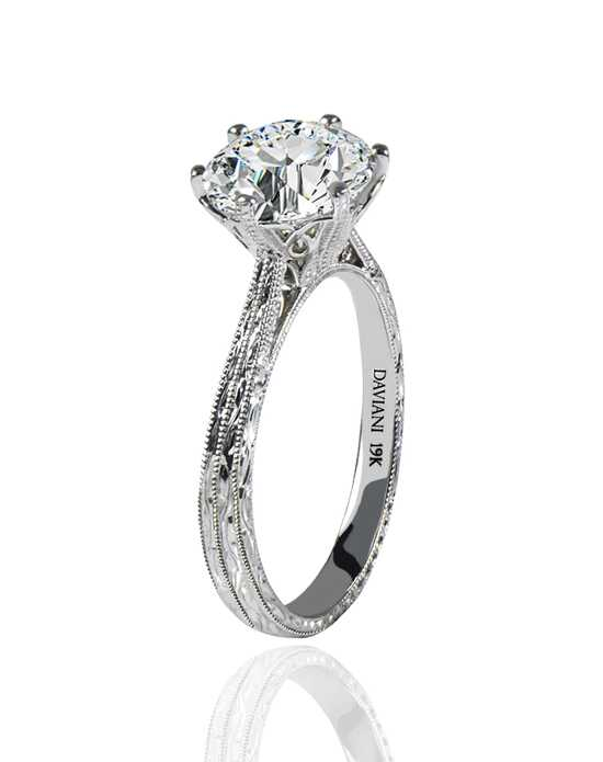 Daviani Love Links Collection Classic Cut Engagement Ring