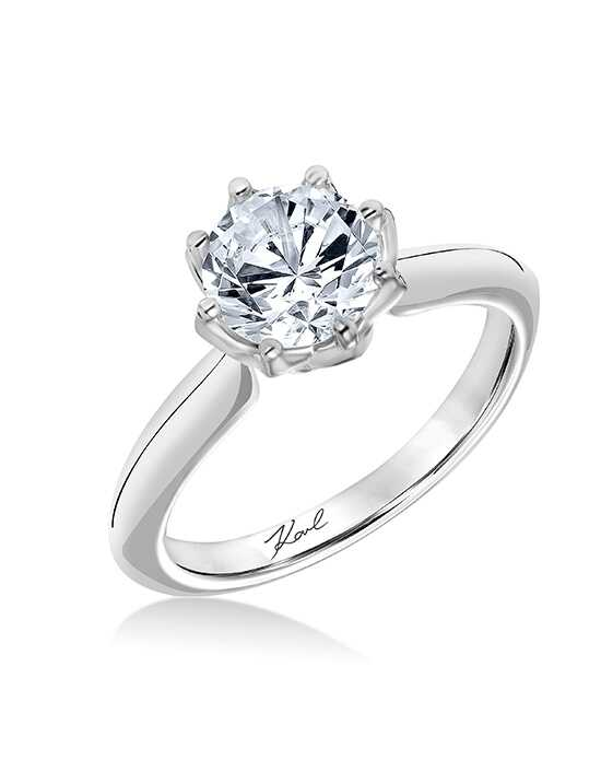 KARL LAGERFELD Classic Round Cut Engagement Ring