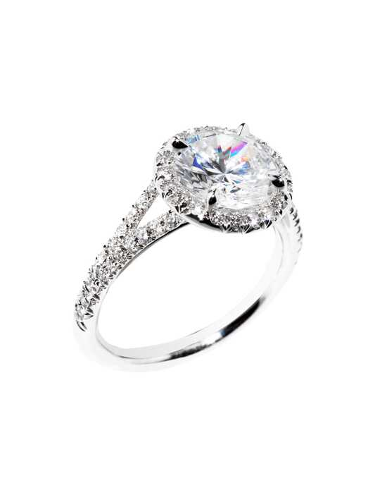 Platinum Jewelry Classic Round Cut Engagement Ring