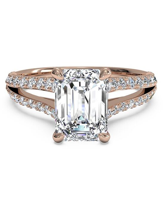 Ritani Glamorous Emerald Cut Engagement Ring