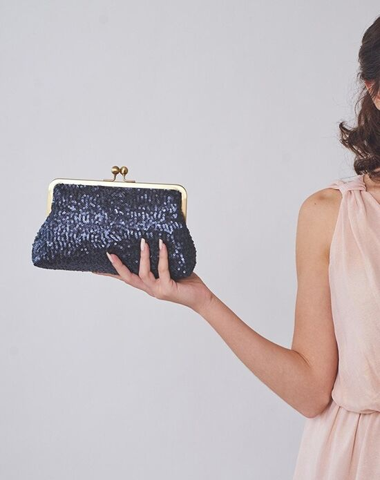 Davie & Chiyo | Clutch Collection Esmé Clutch Blue, Gold Clutches + Handbag