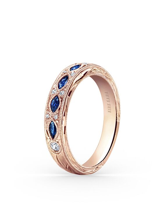 Kirk Kara Dahlia Collection K1120SDP-B Rose Gold Wedding Ring
