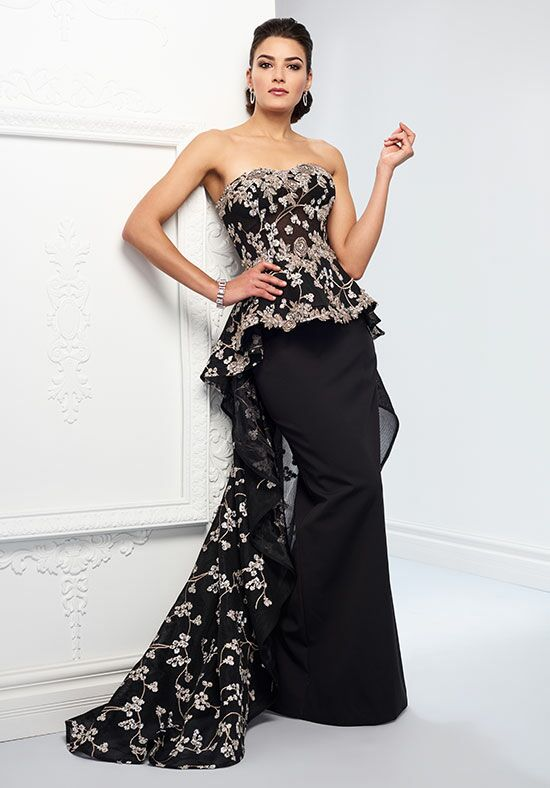 Ivonne D. 218D32 Black Mother Of The Bride Dress