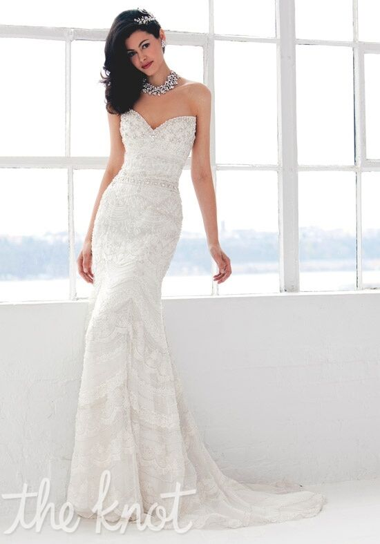 Stephen Yearick 13831 Sheath Wedding Dress