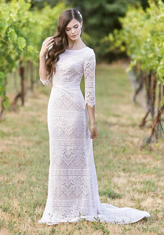 Modest by Mon Cheri TR11840 Sheath Wedding Dress