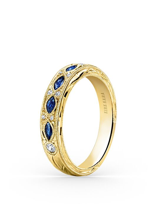 Kirk Kara Dahlia Collection K1120SDY-B Gold Wedding Ring