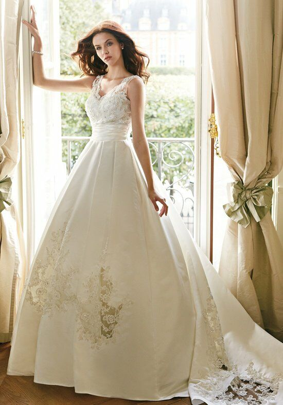 Jasmine collection f151007 wedding dress the knot for How do you preserve a wedding dress