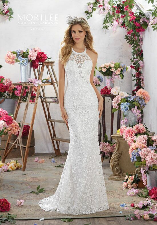 Morilee by Madeline Gardner/Voyage 6851 Sheath Wedding Dress
