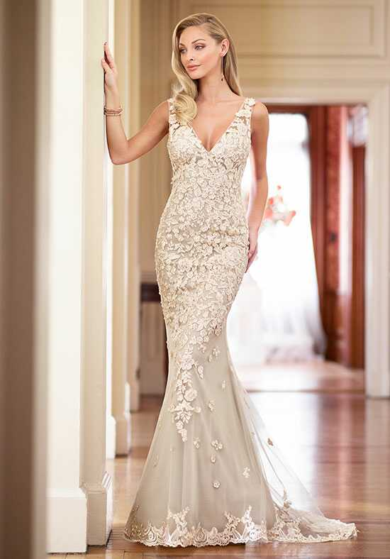 Enchanting by Mon Cheri 218163 Sheath Wedding Dress