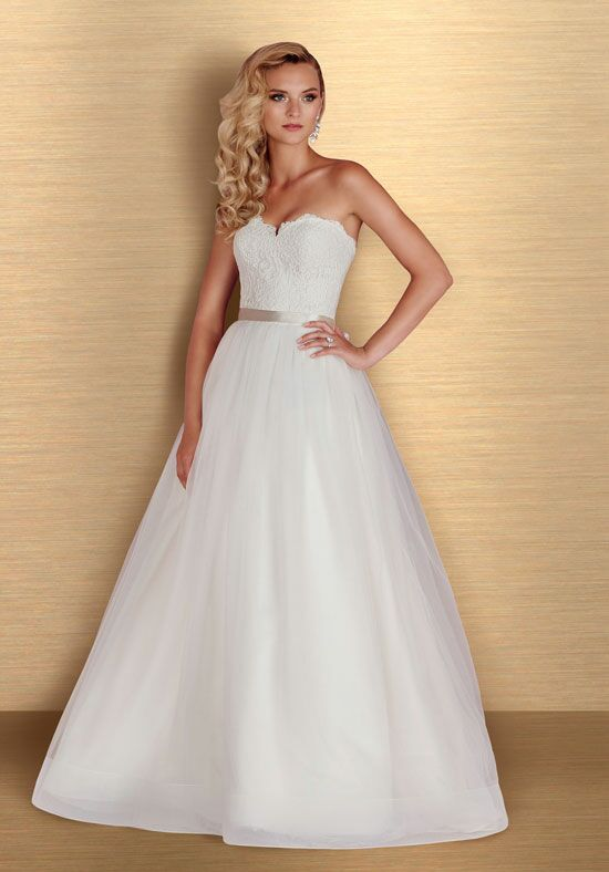 Paloma Blanca 4668 A-Line Wedding Dress