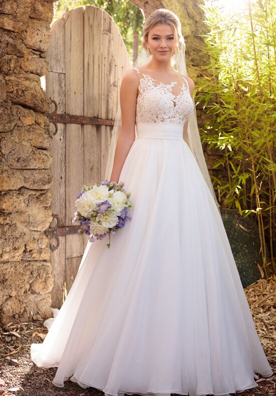Essense of australia d2186 wedding dress the knot for V neck wedding dresses australia