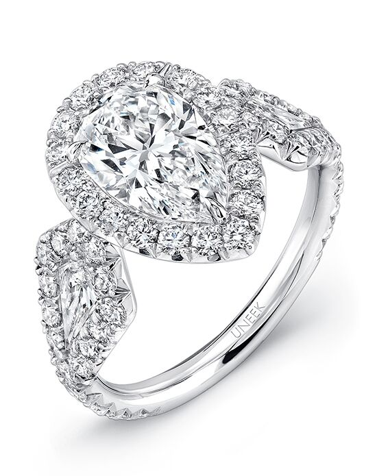 "Say ""Yes!"" in Platinum Elegant Pear Cut Engagement Ring"