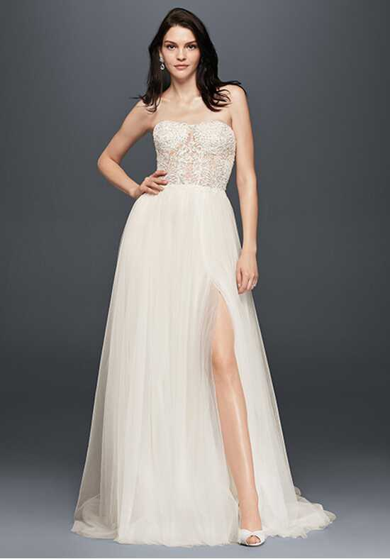 David's Bridal Galina Signature Style SWG764 A-Line Wedding Dress