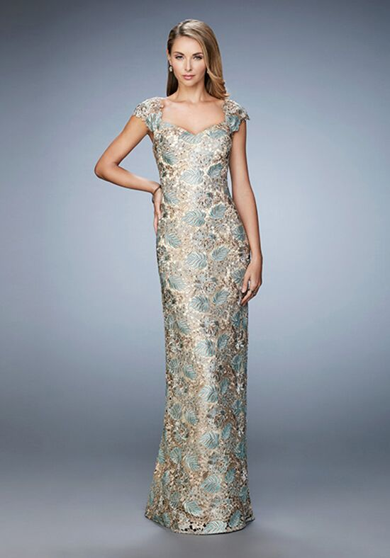 La Femme Evening 22984 Gold Mother Of The Bride Dress