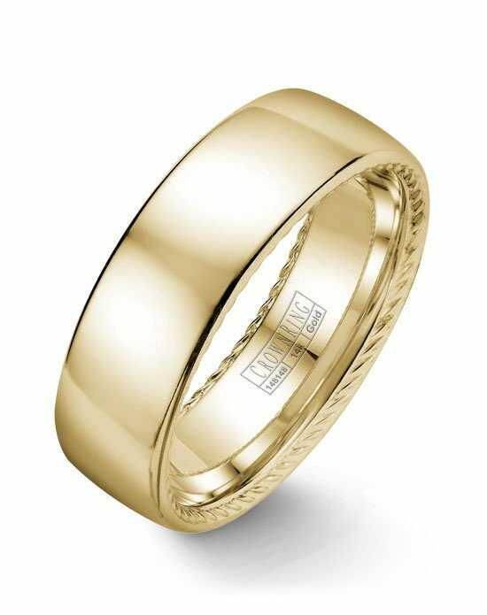 CrownRing WB-012R7Y-M10 Gold Wedding Ring