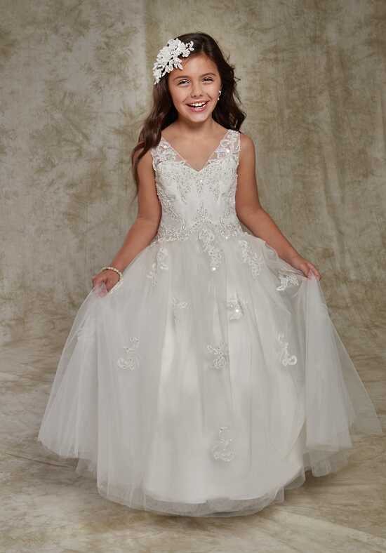 Cupids by Mary's F536 White Flower Girl Dress