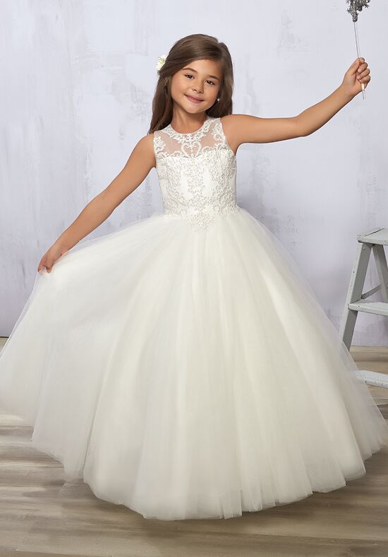 Cupids by Mary's F577 White Flower Girl Dress